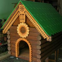 Домики для собаки деревянный