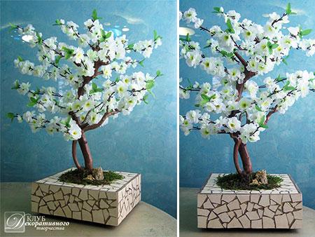 """Искусственное дерево """"Белая сакура"""" № 34"""