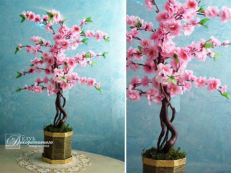 """дерево """"Сакура"""" №32. Высота этого подарочного дерева 75 см."""
