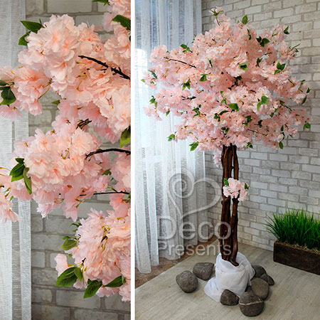 Купить декоративное дерево из цветов