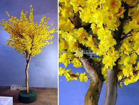 Пасхальное дерево из желтых цветов, купить в Киеве