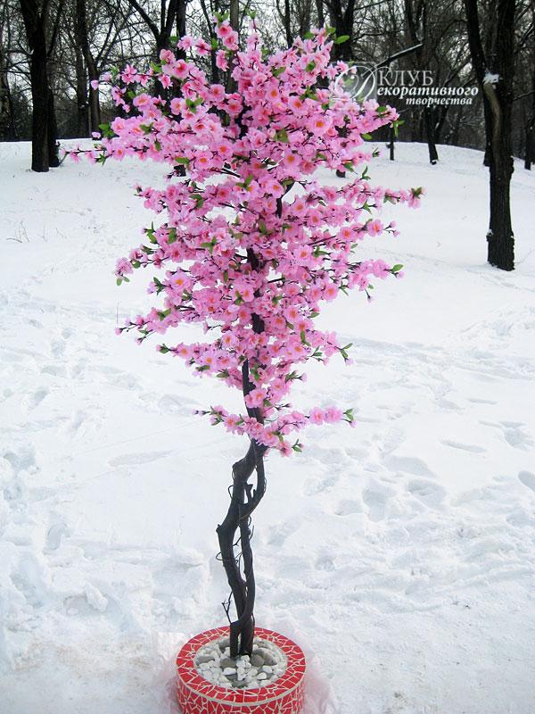 Искусственное дерево сакуры своими руками