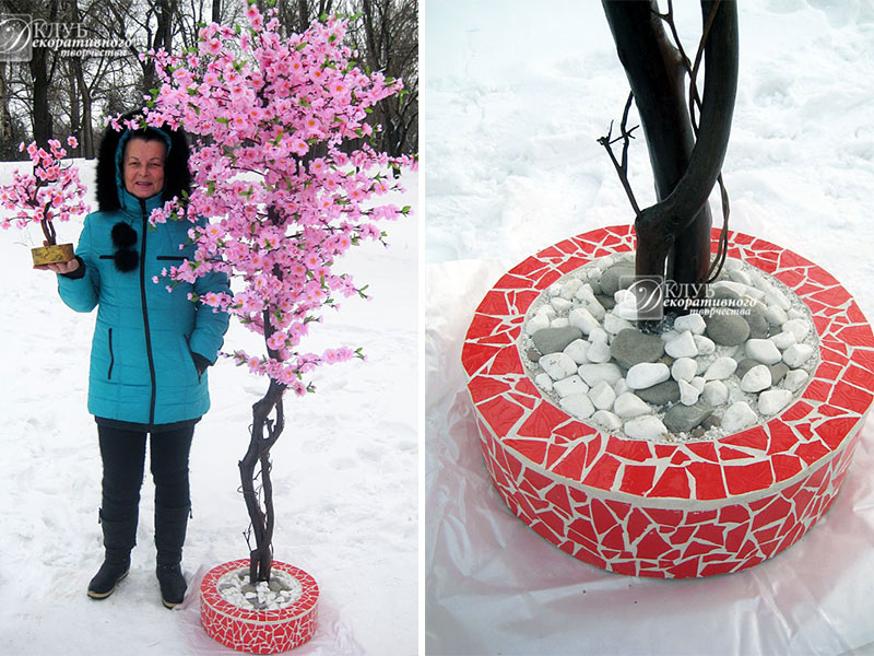 Своими руками искусственная сакура дерево