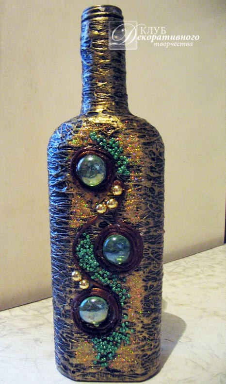 Бутылки со стразами своими руками 31