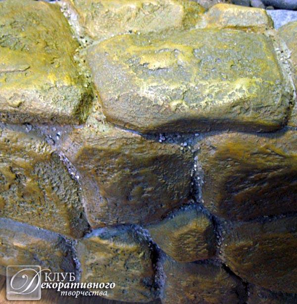 Камень из пенополистирола своими руками 106