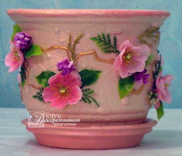 Аквариум горшок для цветов